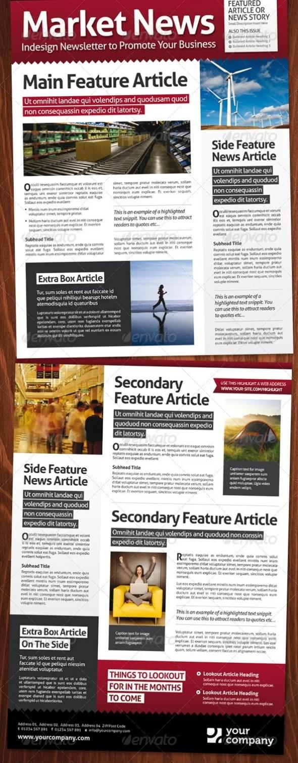 Market News, A4 Magazine Style Newsletter