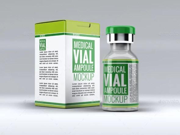 Medical Vial Ampoule Mockup