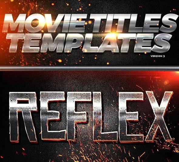 Movie Titles PSD Template 3