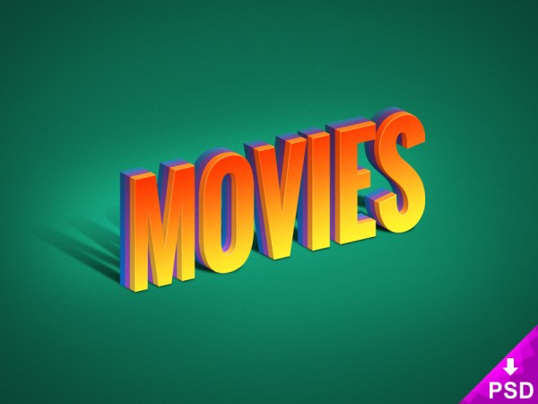 Movies Text Effect