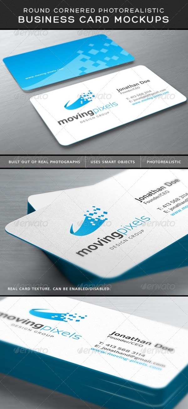 40 free business card mockup psd download psdtemplatesblog photorealistic business card mockup round corners reheart Images