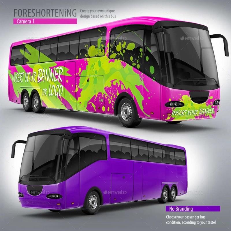 Tourist Branded bus Mockup