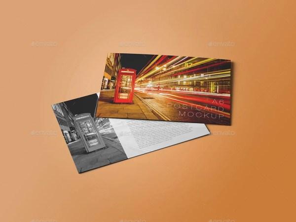 A6 Postcard Mockup