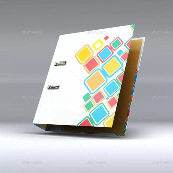 Binder Office Folder Mockup