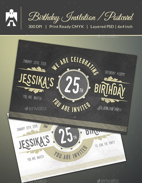 32 best birthday invitation templates psd download psdtemplatesblog birthday invitation stopboris Choice Image