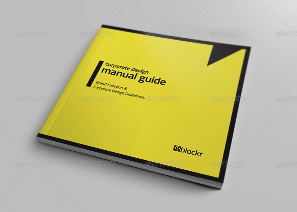 Corporate Design Manual Guide Square - 36 Pages