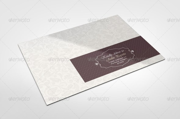 Envelope Labels Mockup