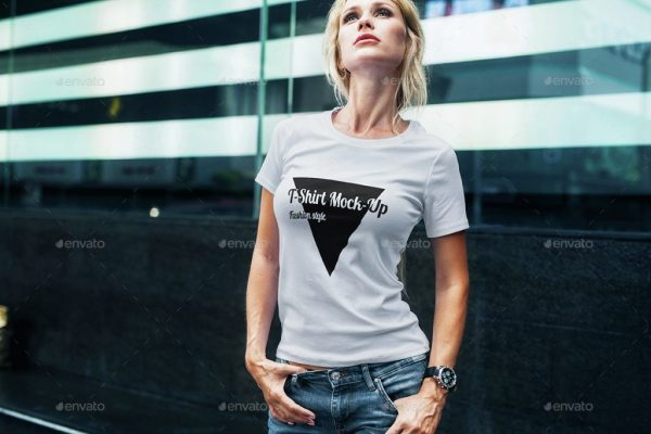Female T-Shirt Fashion Mockup