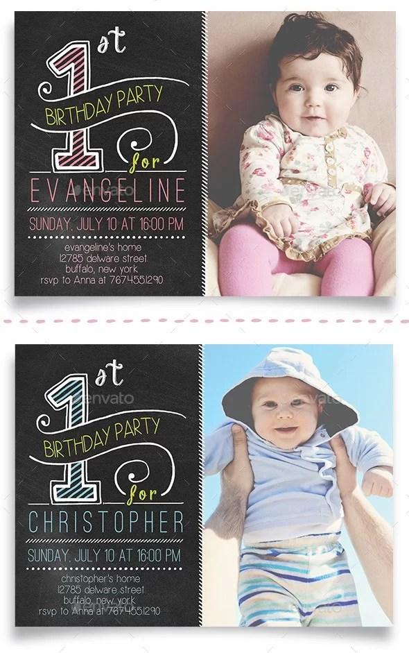First Birthday Celebration Cards