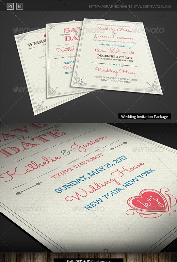 Fresh Royal Wedding Invitation Package