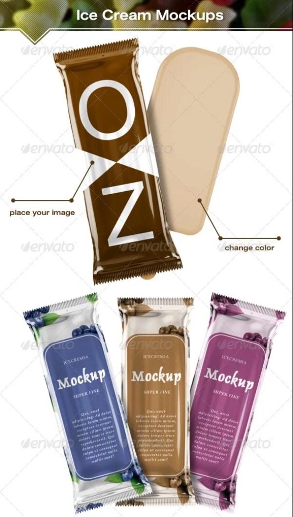 Ice Cream Package Mockups