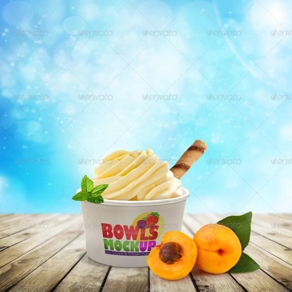 Ice cream Bowl Mockup