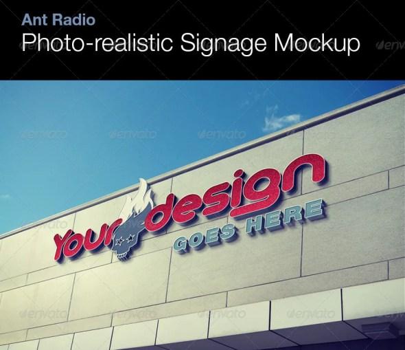 Photorealistic Signage Mockup