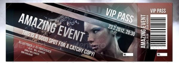 Print Ready Event Ticket Template