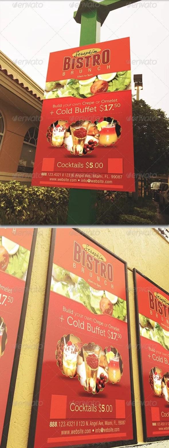 Restaurant Signage Mockup Template