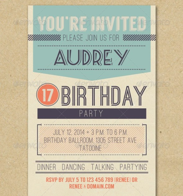 Retro Birthday Invitation