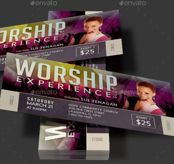 Worship Concert Ticket Template