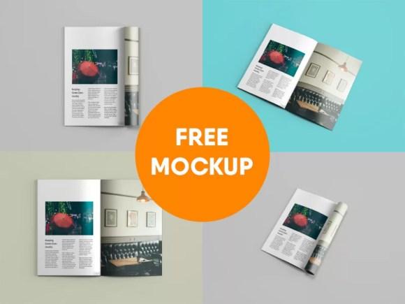 24 Magazine Mockup Templates Free Psd Download