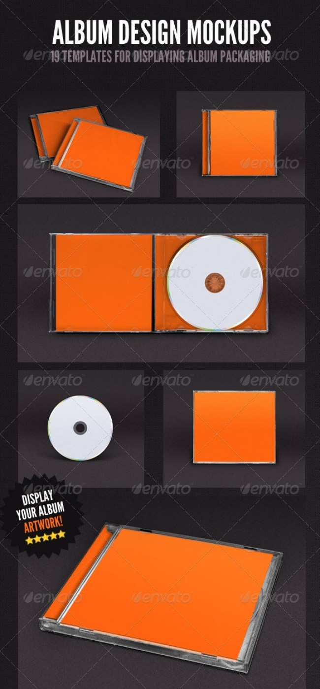 Album Cover Mockup Bundle - 19 Templates
