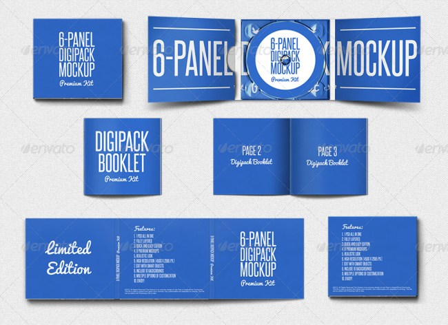 Digipak CD Mockup - Premium Kit
