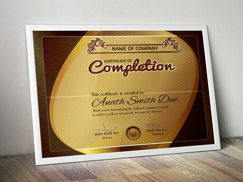 Free Certificate Templates PSD