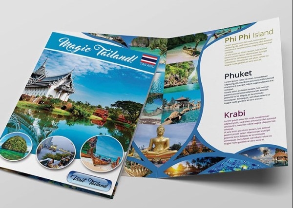 65 print ready brochure templates free psd indesign ai for Tourist brochure template