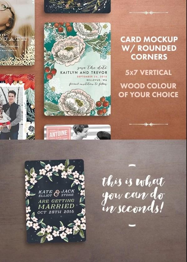 Holiday Greeting / Invitation Card Mockup