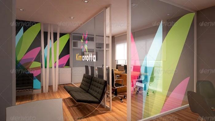 Interior Office Branding Mockup