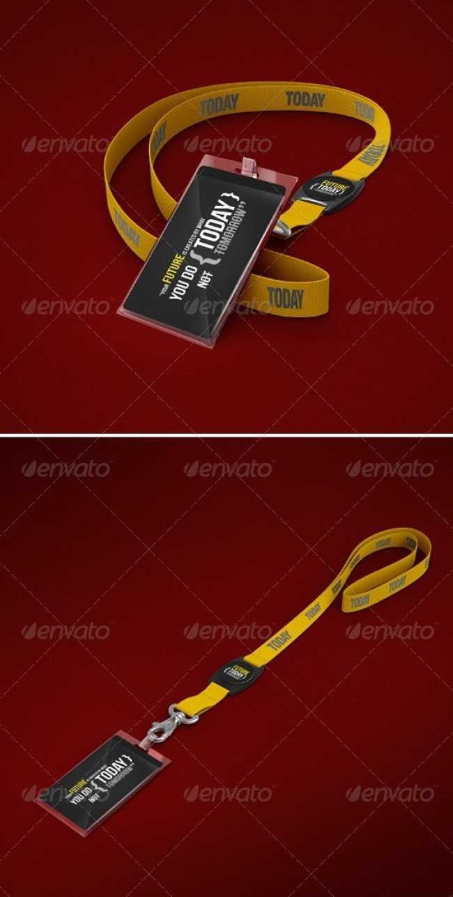 Photorealistic Lanyard / Badge Mockup
