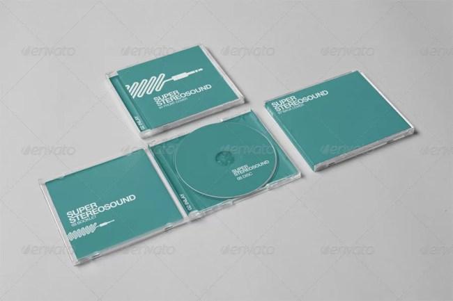 Realistic CD Jewel Case Mockup