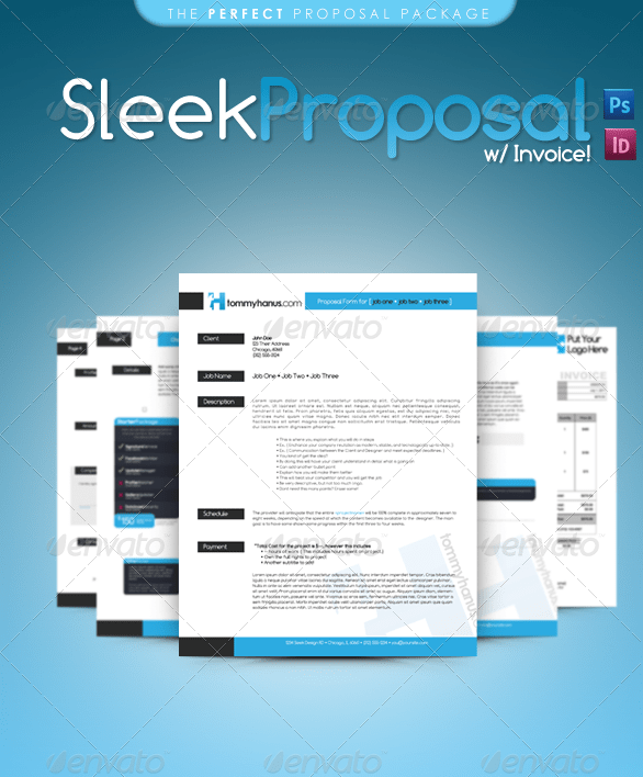 Sleek Proposal   Professional Proposal Template  Proposal Templates For Word