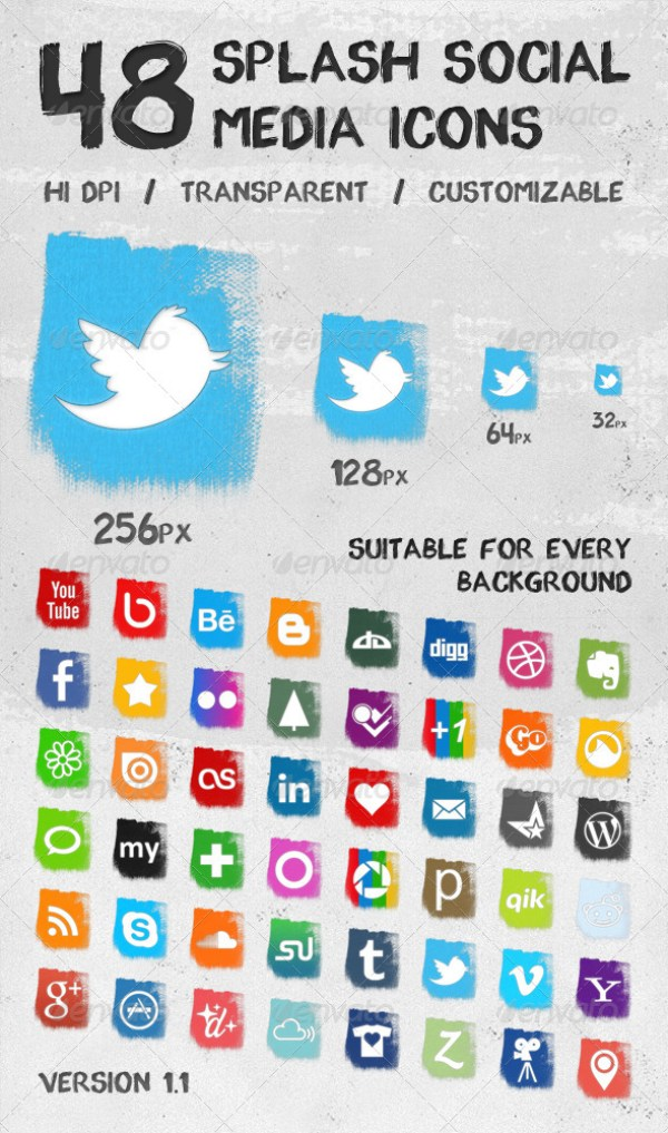 Splash Social Media Icons