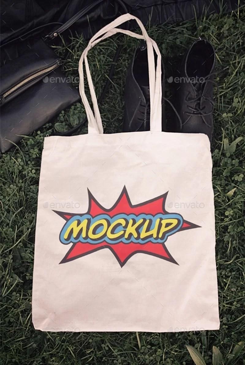 great eco shopping bag mockup