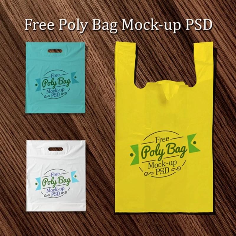 free best psd mockup plastic bag shopping bag