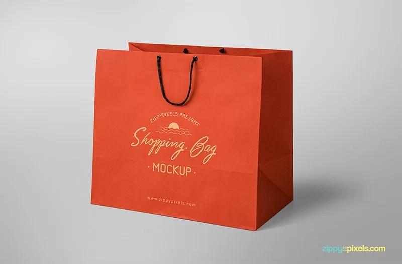 free attractive shopping bag mockup