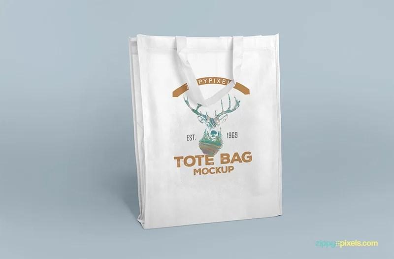 shopping bag tote bag free psd mockup