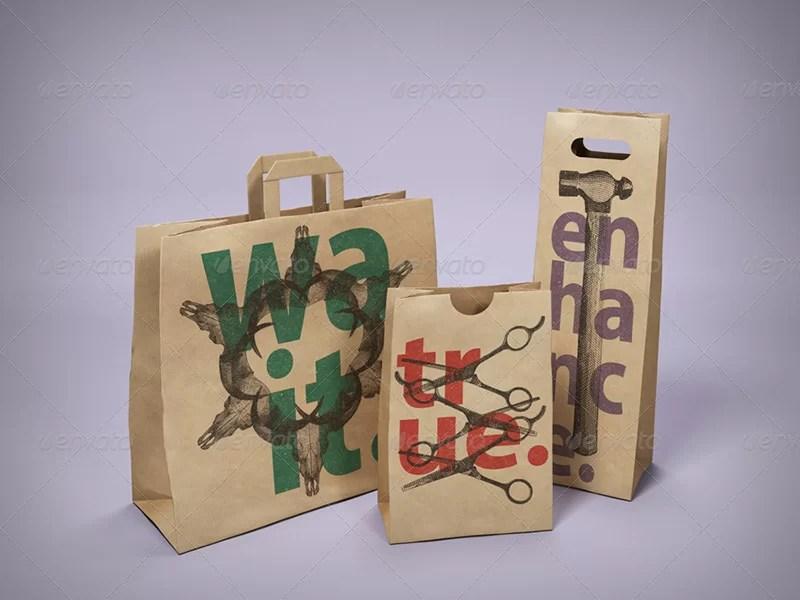 best paper bag mockup psd