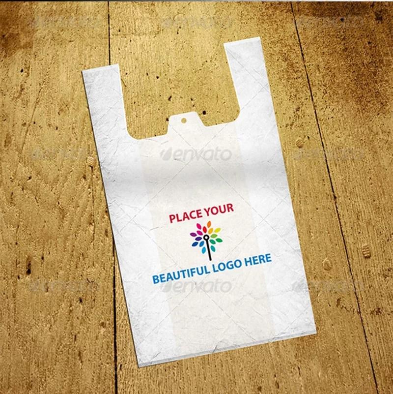 premium shopping polythene bag mockup psd templates