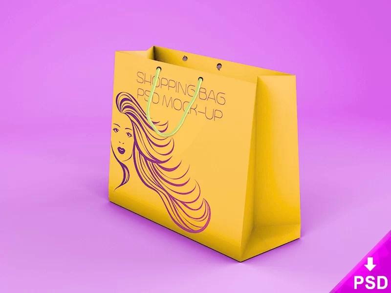 free amazing shopping bag mockup template