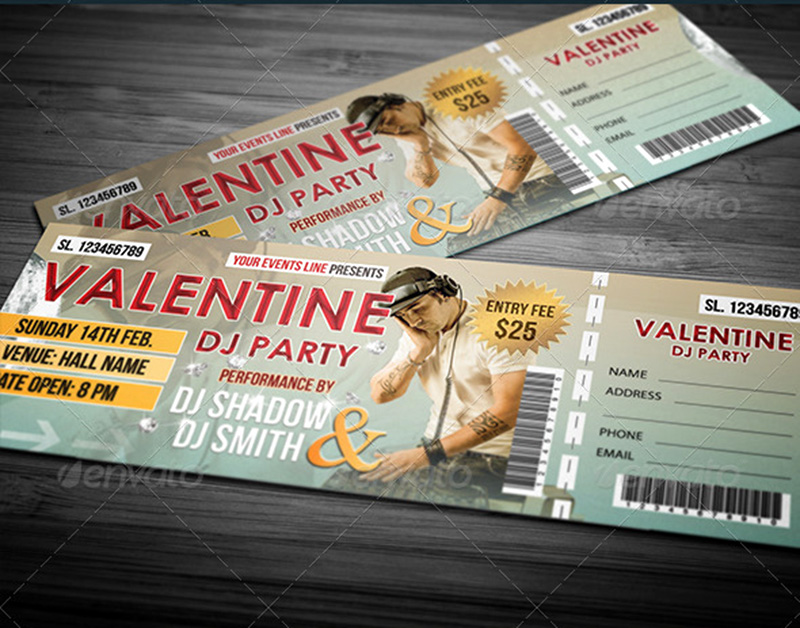 great premium special event tickets psd template