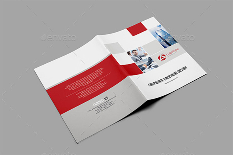 unique corporate brochure design psd template