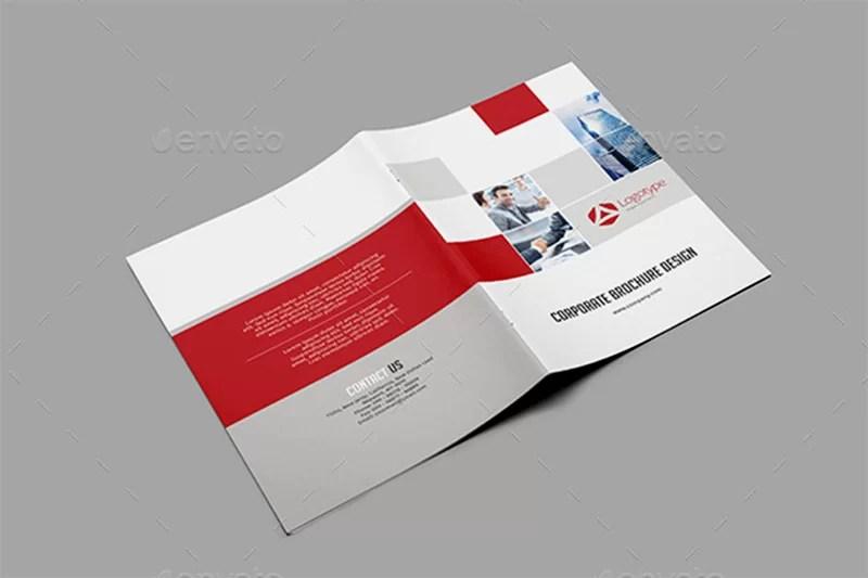 unique corporate brochure design psd template