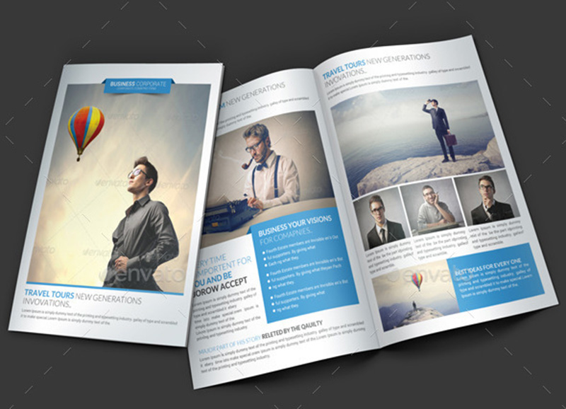 Best Free Corporate Brochure Template Design Psd  Psdtemplatesblog