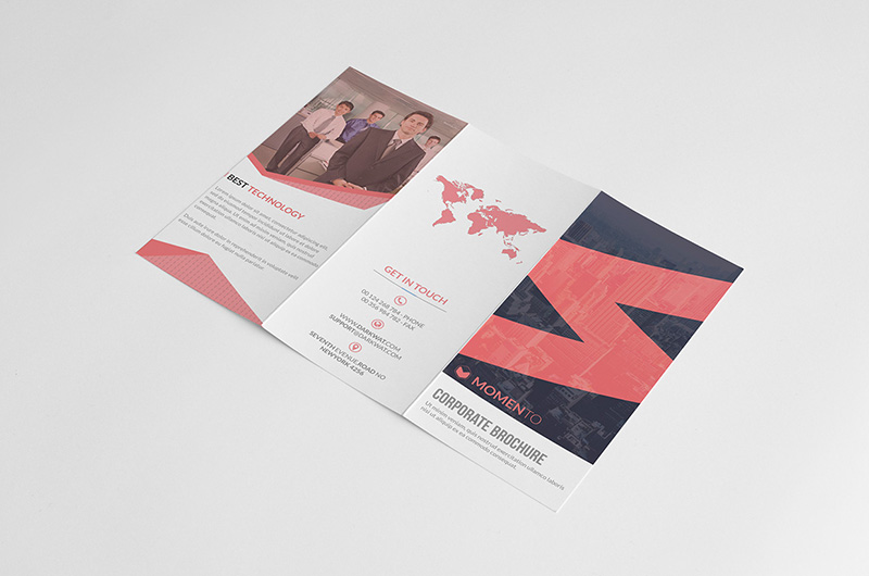 free corporate brochure template design psd