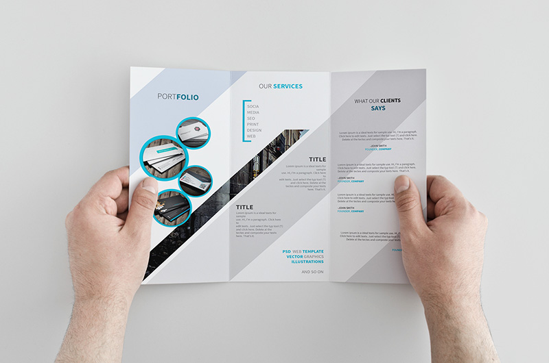 awesome creative free brochure design psd template