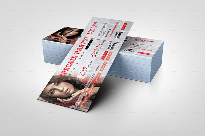 best premium event ticket template psd