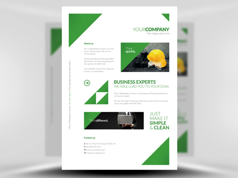 great corporate brochure free psd template