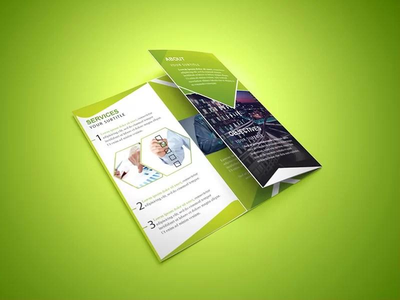 unique business corporate trifold brochure psd template