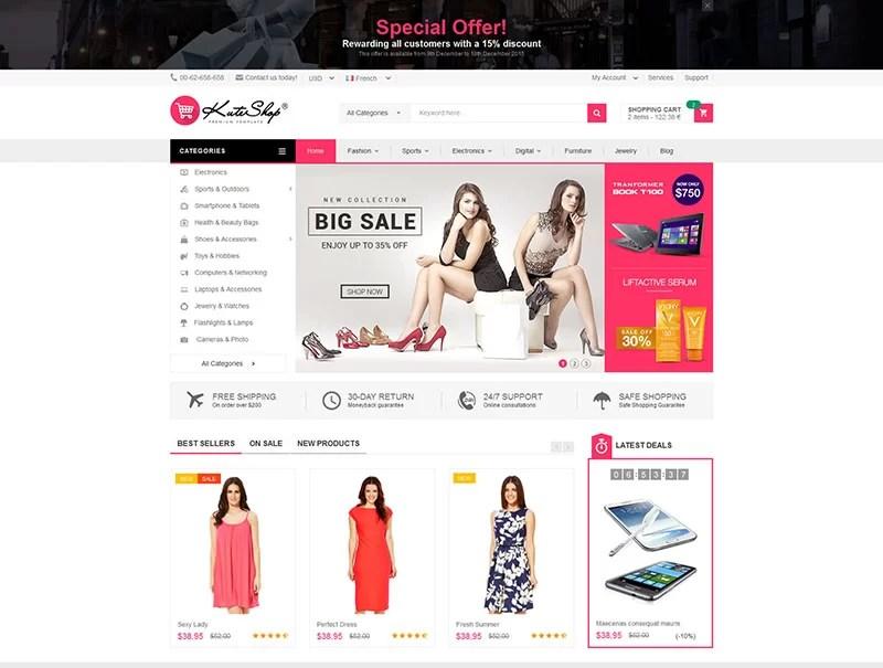 16+ Best Premium Wordpress eCommerce Theme - PSDTemplatesBlog