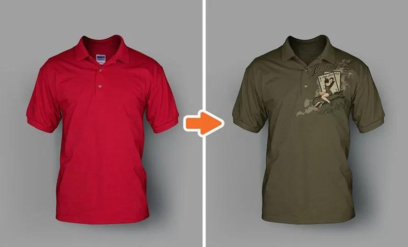 mens premium polo shirt mockup psd template